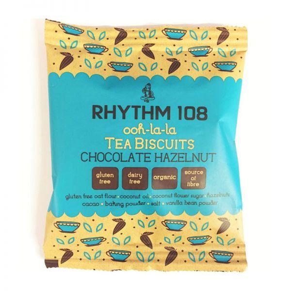ooh-la-la Tea Biscuits Chocolate Hazelnut Bio, 24g - Rhythm 108