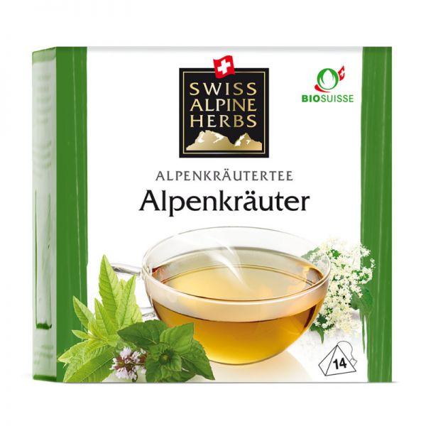 Kräutertee Alpenkräuter Tee Bio, 14x1g - Swiss Alpine Herbs