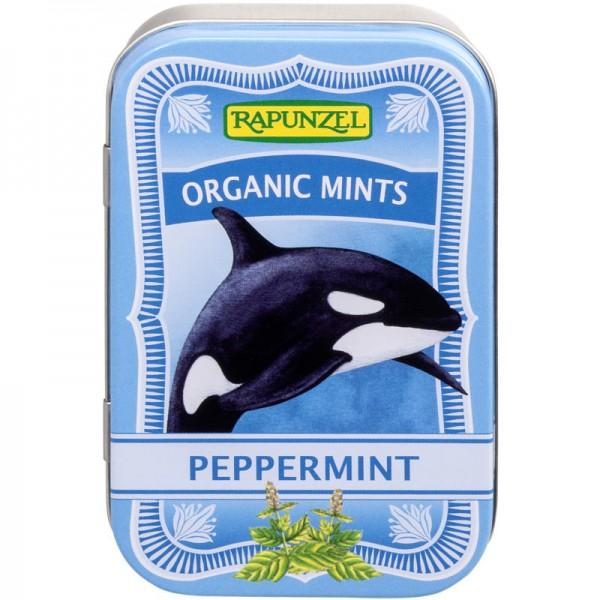 Organic Mint Peppermint Bonbons Bio, 50g - Rapunzel