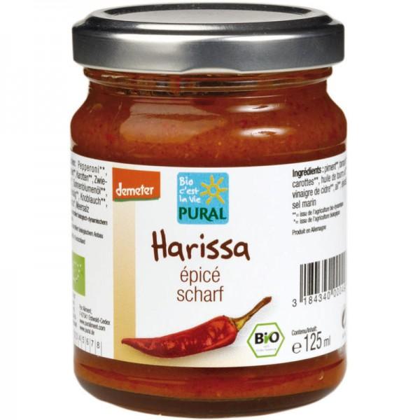 Harissa scharf Bio, 125g - Pural