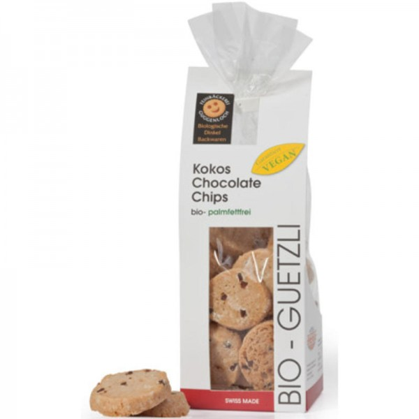 Kokos Chocolate Chips Bio, 170g - Guggenloch