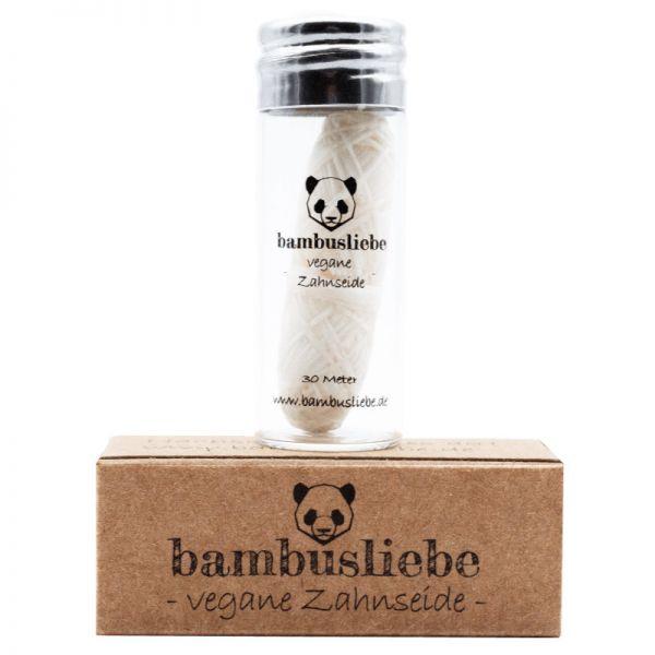 Vegane Zahnseide im Glas, 1 Stück - bambusliebe