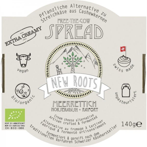 Free-The-Cow Spread Meerrettich Bio, 140g - New Roots