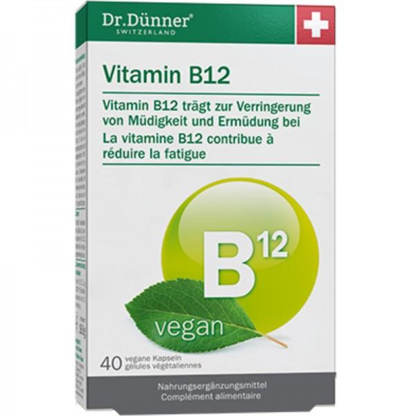 Vitamin B12 Kapseln, 40 Stück - Dr. Dünner